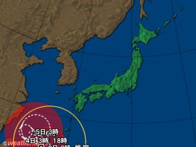 日本列島拡大図 日本列島拡大 日本列島広域  台風情報|@nifty天気予報