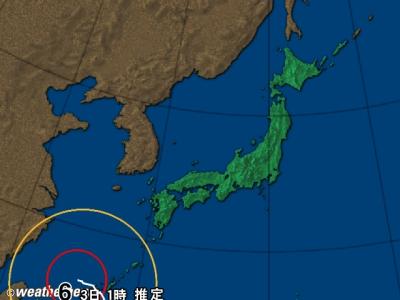 台風情報 日本列島拡大図